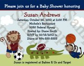 Sports Team Safari/Animals Digital Baby Shower Invitation 5x7 U Print yourself