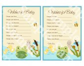 "Printable ""Frog in the Pond/Turtle/Ducks"" Wishes for Baby Cards Instant Digital Download"