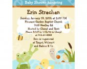 Frog in the Pond/Turtle/Ducks Digital Baby Shower Invitation 5x7 U Print yourself