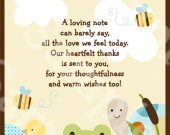 Frog in the Pond/Turtle/Ducks Digital Baby Shower 5x7 inch Thank You Card  U Print yourself