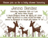 Willow Deer Family Digital Baby Shower Invitation 5x7 U Print yourself