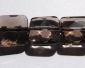high quality crystal smoky quartz beads, 12x12mm 5strands 16inch strand,square box  faceted  jewelry beads