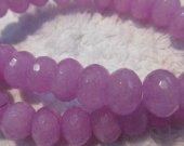 wholesale 6x10mm 5strands 16inch,rondelle abacus lite purple  jade gemstone  jewelry beads