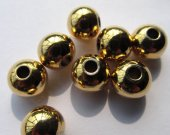 top quality 3-10mm 100pcs  14Kgold  smooth Round Spacer Beads solid gold silver  mixed jewelry beads