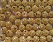 40pcs12mm  bling ball ,metal & czech rhinestone spacer round silver gold mixed jewelry beads