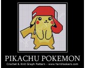 Pokemon Pikachu -  Afghan Crochet Graph Pattern Chart - PDF Download