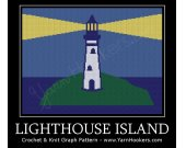 Lighthouse Island - Afghan Crochet Graph Pattern Chart - PDF Download