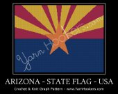 Arizona State Flag - Afghan Crochet Graph Pattern Chart - PDF Download