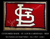Saint Louis Cardinals - MLB - Afghan Crochet Graph Pattern Chart - PDF Download