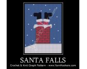 Santa Falls - Afghan Crochet Graph Pattern Chart - PDF Download