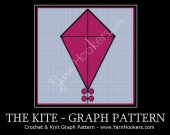 Pink Kite with Bows - Afghan Crochet Graph Pattern Chart - PDF Download