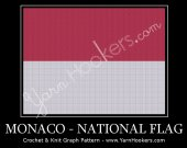 Monacan National Flag - Afghan Crochet Graph Pattern Chart - PDF Download