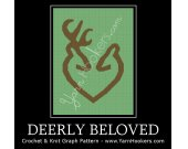 Deerly Beloved - Afghan Crochet Graph Pattern Chart - PDF Download