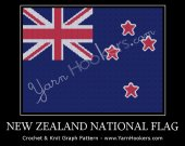 New Zealand National Flag - Afghan Crochet Graph Pattern Chart - PDF Download