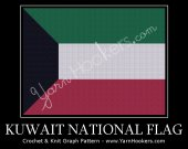 Kuwait National Flag - Afghan Crochet Graph Pattern Chart - PDF Download