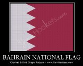 Bahrain National Flag - Afghan Crochet Graph Pattern Chart - PDF Download