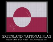 Greenland National Flag - Afghan Crochet Graph Pattern Chart - PDF Download