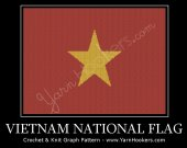 Vietnam National Flag - Afghan Crochet Graph Pattern Chart - PDF Download