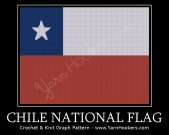Chile National Flag - Afghan Crochet Graph Pattern Chart - PDF Download