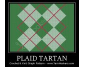 Plaid Tartan - Afghan Crochet Graph Pattern Chart - PDF Download
