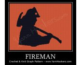 Fireman - Afghan Crochet Graph Pattern Chart - PDF Download
