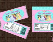 Disney Princesses Candy Bar Wrapper - Printable, Digital File