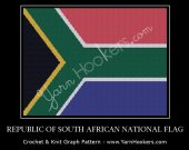 Republic of South Africa National Flag - Afghan Crochet Graph Pattern Chart - PDF Download