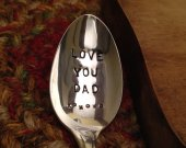 Hand Stamped Vintage Spoon, Stamped Spoon, Silver Spoon, Engraved Spoon, Dad Spoon, Stamped Vintage Spoon, Stamped Silver Spoon, Dad Gift