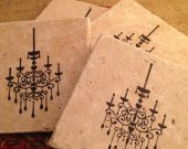 Tile Coasters, Travertine Tile Coasters, Travertine Coasters, Drink Coasters, Chandelier Coasters, Wedding Gift, Birthday Gift, Rustic