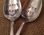 Hand Stamped Silver Spoons, Hand Stamped Coffee Spoons, Wedding Gift, Shower Gift, Hostess Gift, Stamped Silverware, Silver Teaspoon