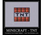 Minecraft - TNT - Afghan Crochet Graph Pattern Chart - PDF Download