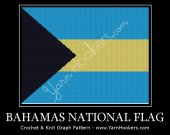 Bahamas National Flag - Afghan Crochet Graph Pattern Chart - PDF Download