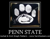 Pennsylvania State University - Afghan Crochet Graph Pattern Chart - PDF Download