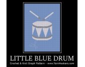 Little Blue Drum - Afghan Crochet Graph Pattern Chart - PDF Download