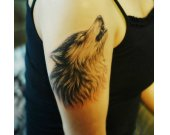 Exquisitely 3D Wolf half sleeve Temporary Tattoo Paper