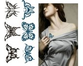 butterfly temporary tattoo for girls scarring cover up