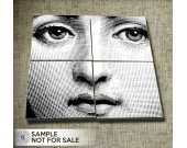 Lina™s Face - 4x4 and 3.8x3.8 inch tiles - Digital Collage Sheets CP-206 for Scrapbooking Coasters Stickers