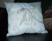 Pearls and Lace Wedding or Ringbearer Pillow