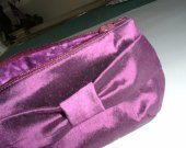 Prom Clutch - Silk Zipper Clutch in Purple