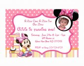 printable - Pink Polka Dot Minnie Mouse photo Birthday Invitations cards