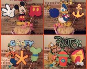 Set of 16 Disney Mickey Mouse and Friends Centerpiece / Decor Picks Adorable