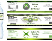XBOX Water Bottle Labels - FILE FOR YOU TO PRINT.