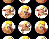 CLASH OF CLANS Set of 12 2.5-Inch Round Personalized Stickers SET #1