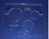 """3 Hole Mini Circles for 1/2"""" Foot   ~1/4"""" thick Acrylic - 2"""", 2 1/2"""", 3 1/2"""""""