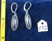 Silver earrings with hematite. Cat# 0112