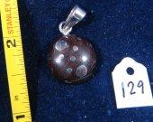 Wooden-silver pendant. Cat# 0129