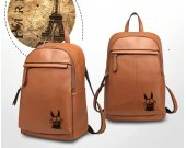 RANMA P-CHAN Genuine Leather Backpack