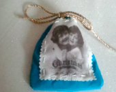 Vintage Christmas in the Heart cotton bag