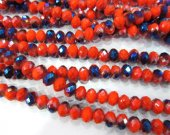 10strands 3x4 4x6 5x8 6x10mm crystal like swarovski bead rondelle abacus  faceted crimson carmine  red blue ewelry beads
