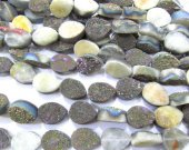 wholesale 10x14mm 20pcs  Calibrated Druzy quartz teadrop drop peach  rainbow assortment  jewelry  charm bead